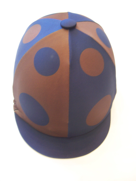 RS Lycra Hat Cover - quartered with Spots