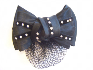 Hairnet with bow black